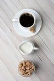Azúcar natural de la desnatadora del café Imagenes de archivo
