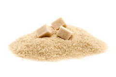 Azúcar sin procesar o marrón Imagenes de archivo