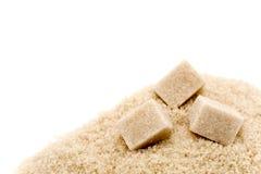 Azúcar sin procesar o marrón Imagen de archivo