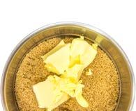 Azúcar y mantequilla de Brown Fotos de archivo libres de regalías
