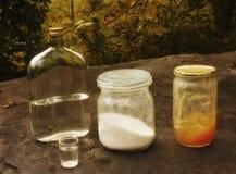 Azúcar y miel foto de archivo
