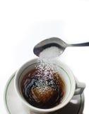 Azúcar y taza Imágenes de archivo libres de regalías