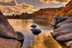 AZ普里斯科特华森湖小山谷 免版税库存图片