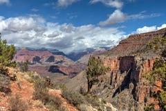 AZ盛大峡谷国家公园外缘明亮的天使足迹 库存图片