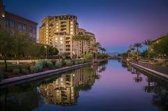 Az运河在斯科茨代尔,亚利桑那 免版税图库摄影