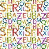 无缝的英语字母表a到z 免版税图库摄影