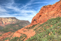 AZ_Coconino National Forest-Sedona area. Outside of Sedona, Arizona, in the Schnebly Hill area, are miles and miles of spectacular desert hiking Royalty Free Stock Photos