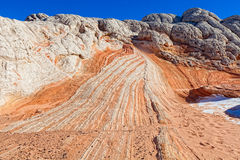 AZ- Coyote Buttes area-White Pocket Stock Photos