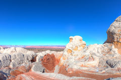 AZ- Coyote Buttes area-White Pocket Stock Photography