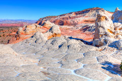 AZ- Coyote Buttes area-White Pocket Stock Image