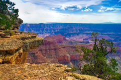 AZ Grand Canyon National Park. The North Rim of the Grand Canyon presents an entirely different perspective compared to the South Rim. This shot, taken on the Royalty Free Stock Photography