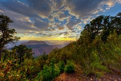 AZ-Grand Canyon National Park-North Rim-Timp Point. This is a sunset on the remote Timp PoInt on the North Rim of the Grand Canyon National Park Stock Image