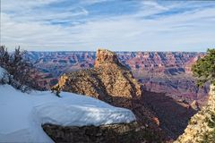 AZ-Grand Canyon National Park-S Rim. This image was taken near the the New Hance Trail on the s. Rim of the grand Canyon Royalty Free Stock Image