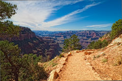 AZ-Grand Canyon National Park-S Rim- S Kaibab Trail Stock Image