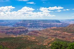 AZ-Grand Canyon-North Rim-Crazy Jug Point. This view is from the remote crazy jug point on the North rim of the Grand Canyon Royalty Free Stock Image