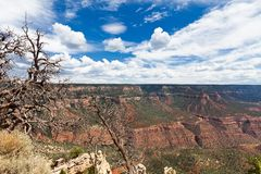 AZ-Grand Canyon-North Rim-Monument Point. This view is from the remote Monument Point on the North rim of the Grand Canyon Stock Photo