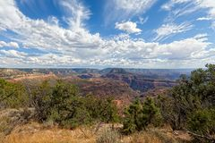 AZ-Grand Canyon-North Rim-Monument Point. This view is from the remote Monument Point on the North rim of the Grand Canyon Stock Photos