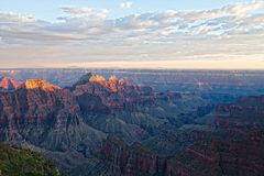 AZ-Grand Canyon-North Rim-sunset near the lodge. This is a sunset view from the North Rim Lodge on the North Rim of the Grand Canyon Royalty Free Stock Photo