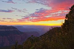 AZ-Grand Canyon-North Rim-Timp Point. This view is a sunset from the remote Timp Point on the North rim of the Grand Canyon Stock Photo