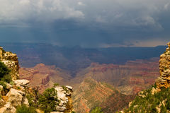AZ-Grand Canyon-S Rim- East Rim Drive. An impending thunderstorm threatens the East Rim Drive Royalty Free Stock Image