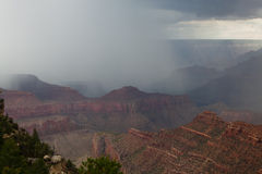AZ-Grand Canyon-S. Rim-near Lipan Pt- E Rim Drive. This was a massive July thunderstorm as viewed from the East Rim Drive Stock Image