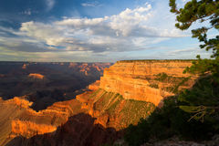 AZ-Grand Canyon--S. Rim-Pima Point- E Rim Rd. Stock Image
