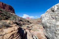 AZ-Grand Canyon-S Rim-Tonto Trail West-Horn Creek Royalty Free Stock Photo