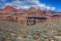 AZ-Grand Canyon-S Rim-Tonto Trail West-view of Colorado Stock Photography