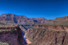 AZ-Grand Canyon-S Rim-Tonto Trail West-view of Colorado Stock Photo