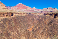 AZ-Grand Canyon-S Rim-Tonto Trail West-view of Colorado Royalty Free Stock Photography