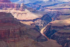 AZ-Grand Canyon-S Rim- West Rim Trail-Pima Point. This is a Colorado River view from Pima Point Royalty Free Stock Images