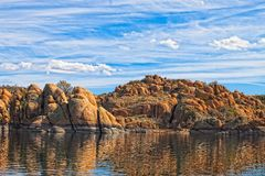 AZ-Granite Dells-Watson Lake. This image captures scenes from Watson Lake in the Gramite Dells of Prescott, AZ Royalty Free Stock Image
