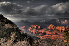 AZ- montagne Traul de Sedona- Mund Photos libres de droits