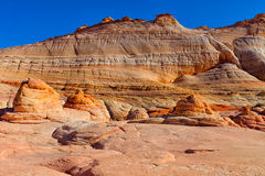 AZ-N. Coyotte Buttes-The Wave Stock Photos