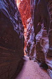AZ-Paria Canyon-Vermillion Cliffs Wildernessss. This is Buckskin Canyon, a highly scenic slot canyon, which meets with the Paria River at the confluence Stock Image