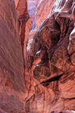 AZ-Paria Canyon-Vermillion Cliffs Wildernessss. This is Buckskin Canyon, a highly scenic slot canyon, which meets with the Paria River at the confluence Stock Photography