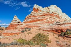 AZ-Paria Plateau-White Pocket. These rock formations  are an intriguing facet of the White Pocket area.  Many are teepee-shaped as shown in this image Stock Image