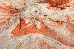 AZ-Paria Plateau-White Pocket. Erosion through the ages has created spectacular rock colorations and patterns Royalty Free Stock Images