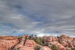 AZ-Prescott-Granite Dells Stock Photo