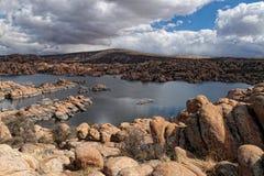 AZ-Prescott- Granite Dells-Watson Lake Stock Photo