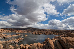 AZ-Prescott- Granite Dells-Watson Lake Royalty Free Stock Image