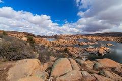 AZ-Prescott-Watson Lake-Granite Dells Stock Photo
