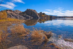 AZ-Prescott-Willow Lake. After hiking through the Dells of the Willow Lake area, we were greeted with quite a  view on this scenic lake Stock Photo
