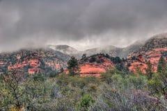 AZ-Sedona-Coconino National Forest. AZ-Sedona- Coconino National Forest.The red rocks are the highlight of a hike on the trails of AZ-Sedona. Today there was the Stock Photo