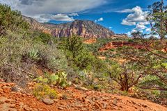 AZ-Sedona-Soldier Pass Trail. This image was taken on the Soldier Pass Trail in Sedona, AZ Stock Photo