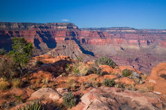 AZ-South Bass Trail. The remote South Bass Trail displays different views of the S. Rim of the Grand Canyon Royalty Free Stock Photo