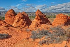 AZ-South Coyote Buttes-Pawhole area Stock Photography