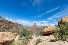 AZ-Superstsition Mountain Wilderness Stock Image