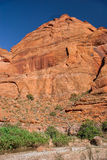 AZ-UT-Paria峡谷银朱的峭壁原野Paria河峡谷 免版税图库摄影