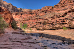 AZ-UT-Paria Canyon-Vermillion Cliffs Wilderness-Paria River Canyon Royalty Free Stock Photo